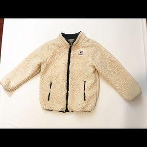 FILA Boys Bruno Sherpa Jacket sz S